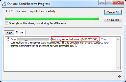 MS-Outlook-Error-0x800ccc0f