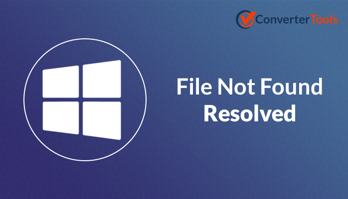 file not found error fixed