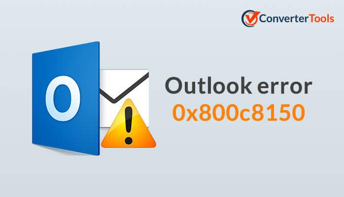 0x800c8105 error in Outlook