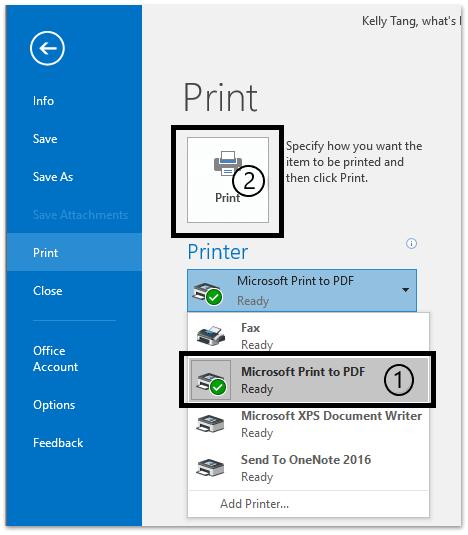 Click on Print , Microsoft Print as PDF