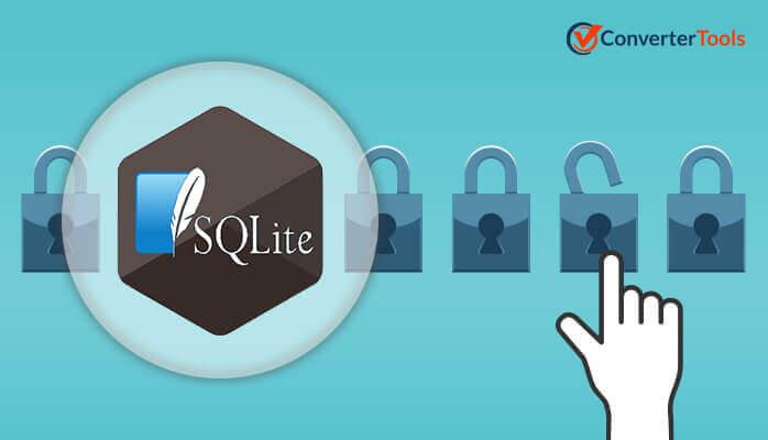 Unlock SQLite database