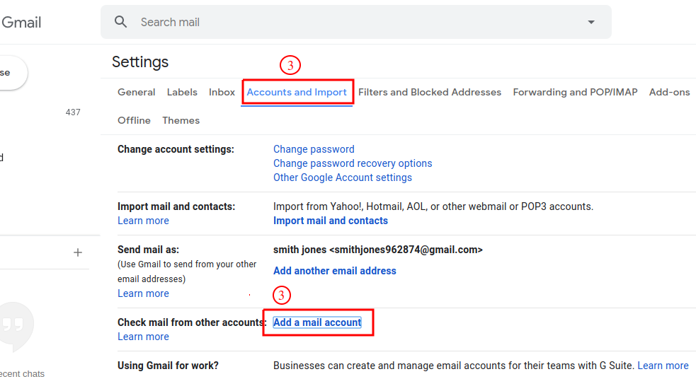 import gmail emails to another gmail account