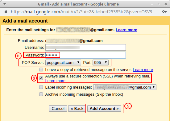 transfer emails from one gmail account to another account