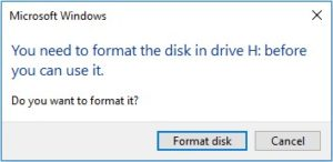 you need to format disk before use