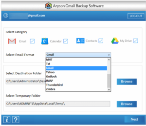Launch the tool and select Yahopo as designated email client