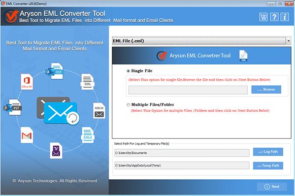 Windows 7 EML File Converter 20.9 full