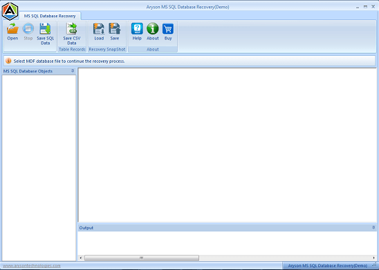 MSSQL Recovery full screenshot