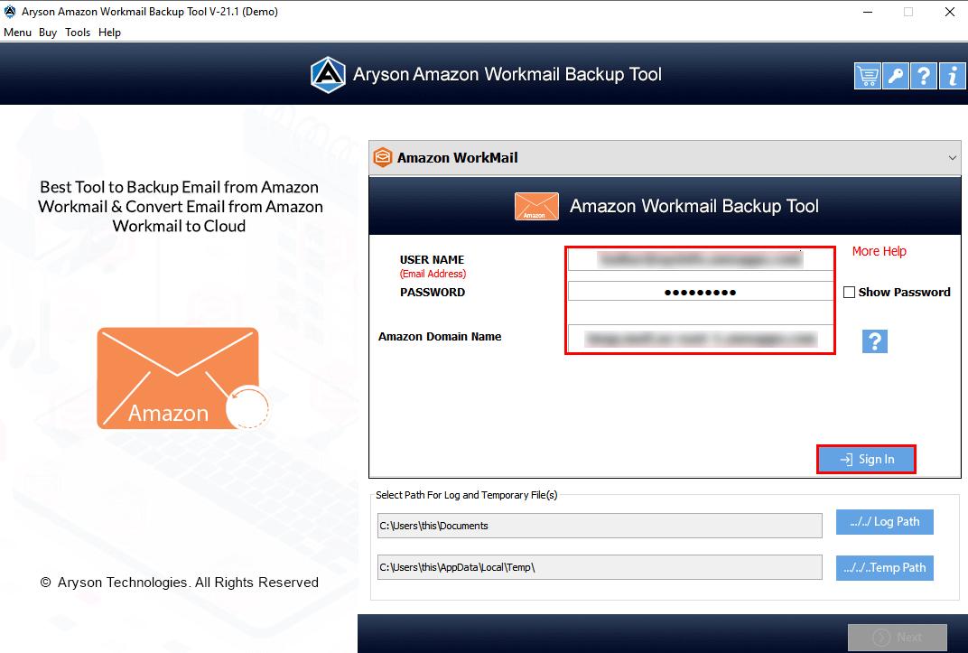 Amazon Mail Converter step-1