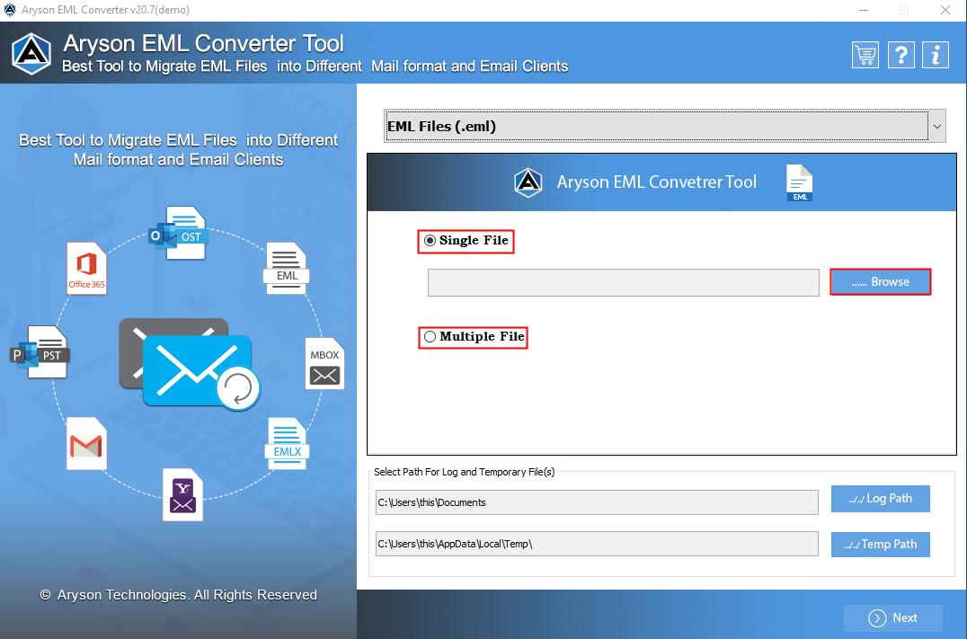 EML File Converter step-1