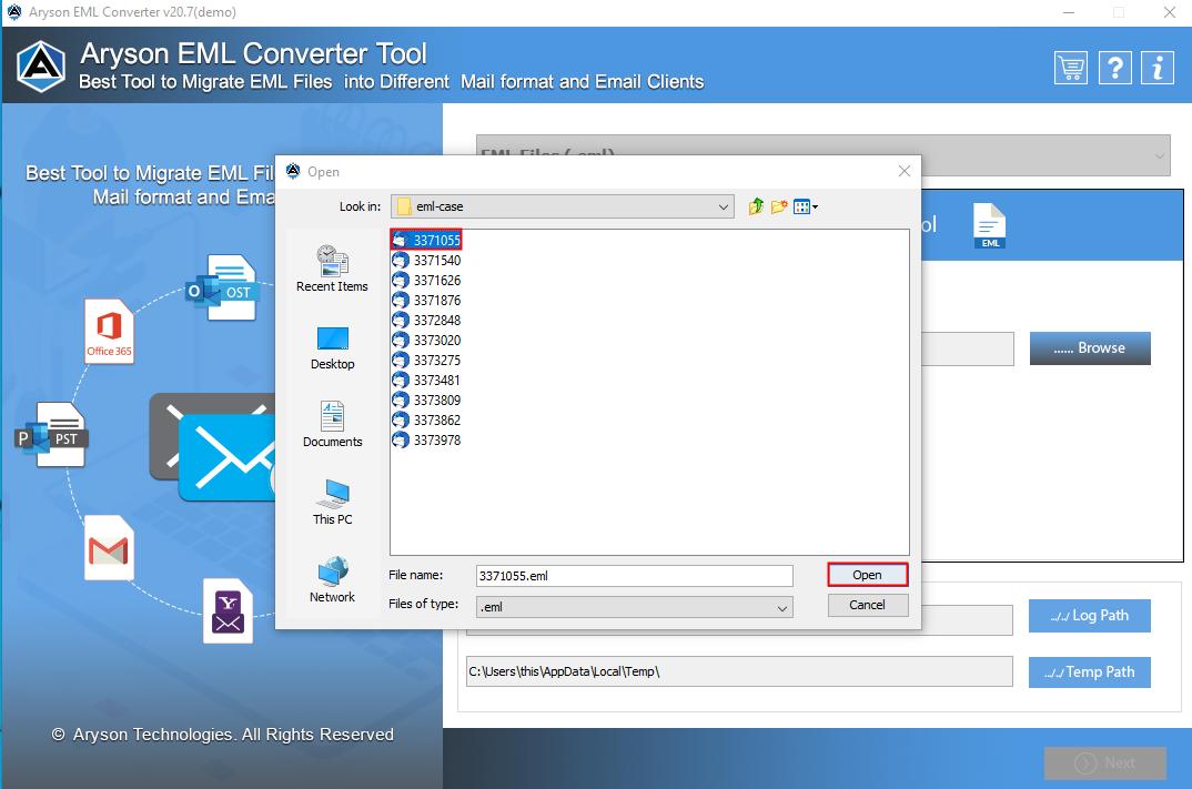EML File Converter step-2