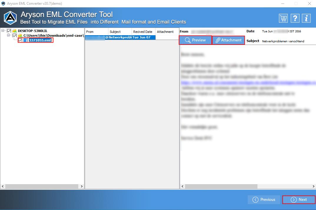 EML File Converter step-4