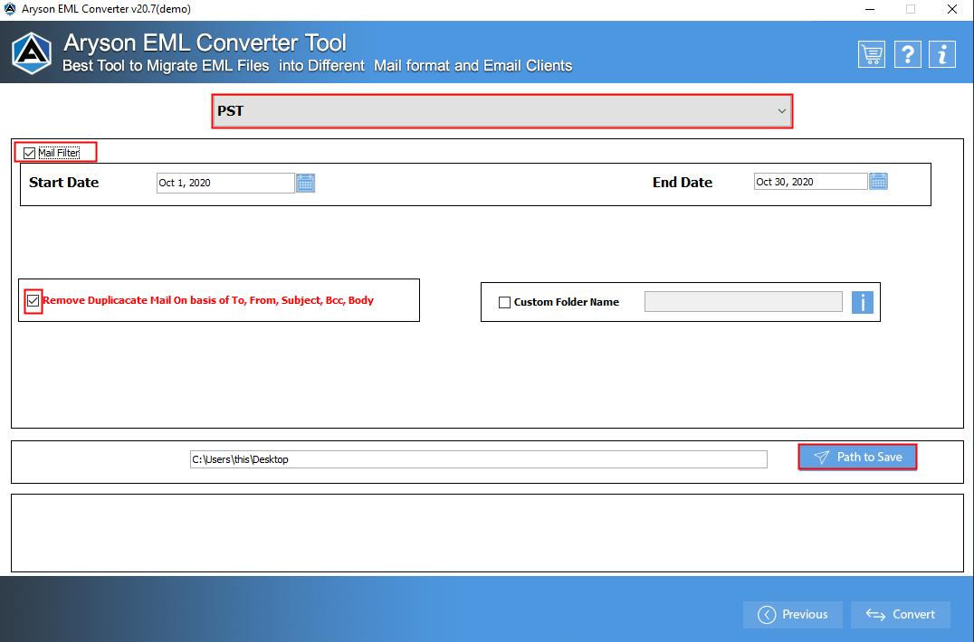 EML File Converter step-5