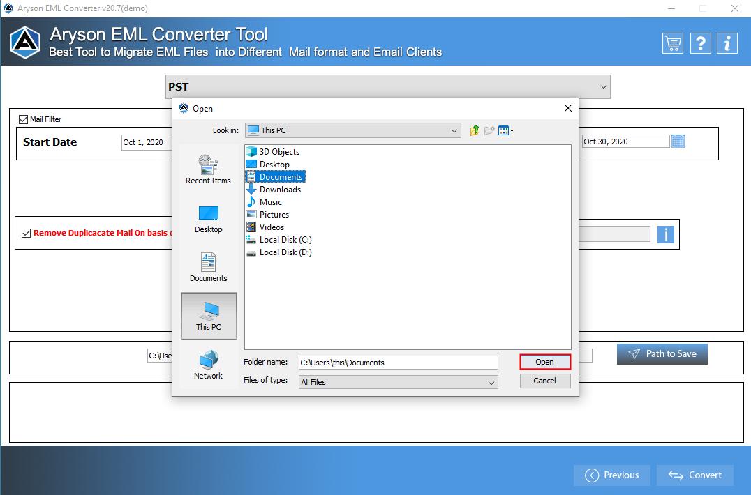 EML File Converter step-6