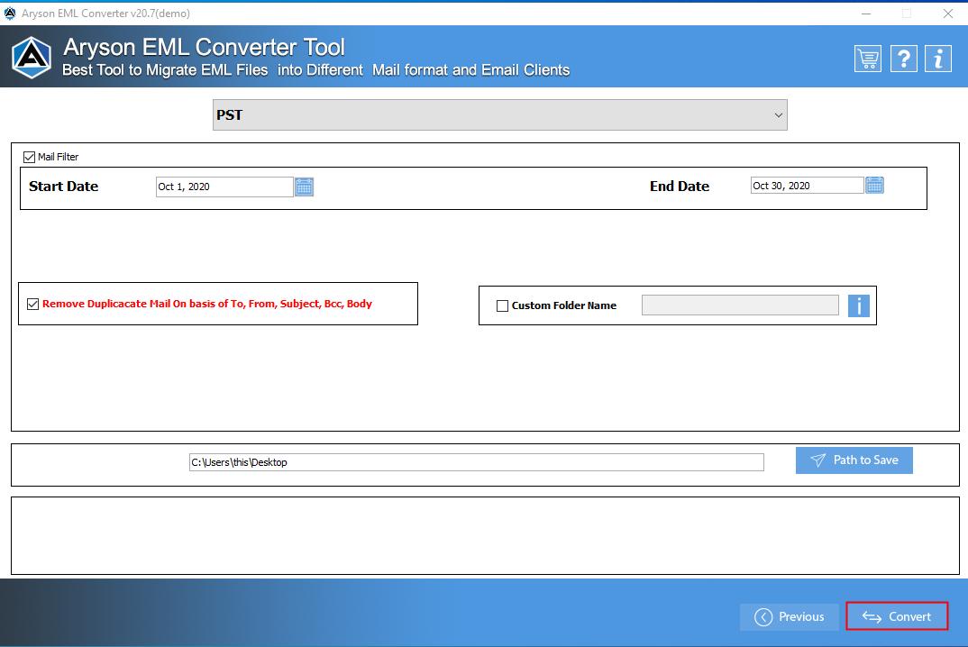 EML File Converter step-7