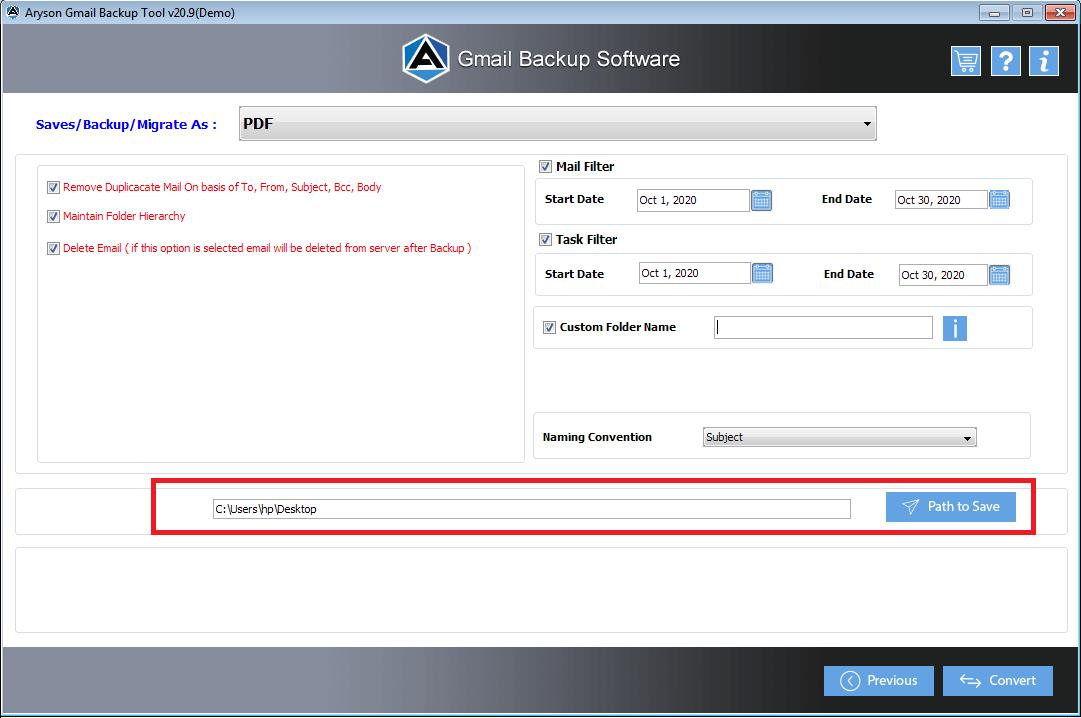 conversion process complate OK button.