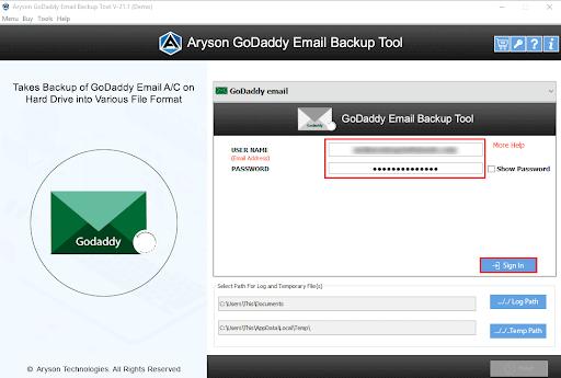 GoDaddy Mail Converter step-2