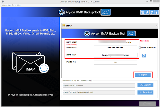 IMAP to IMAP Converter step-2