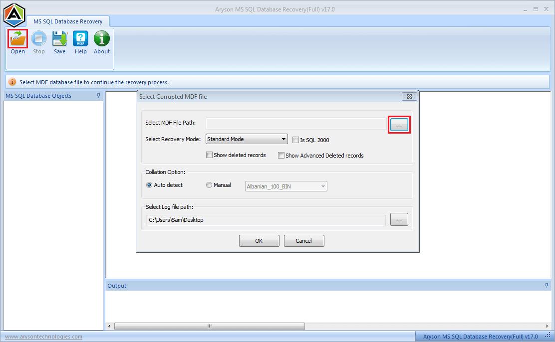 MSSQL Recovery full screenshot