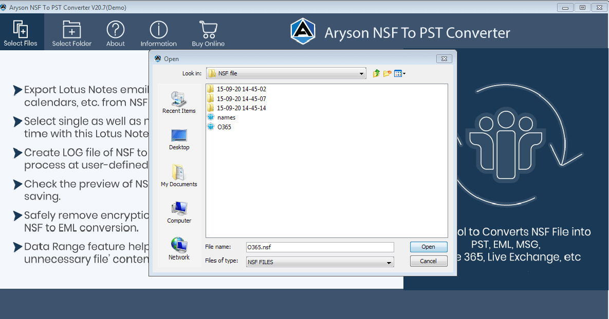 nsf to pst, nsf to pst converter, export lotus notes to outlook, import lotus notes to outlook, convert lotus notes to outlook, lotus notes to outlook migration