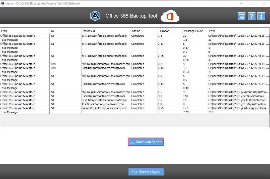 office 365 Backup step-9