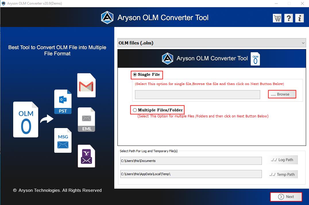 OLM Converter step1