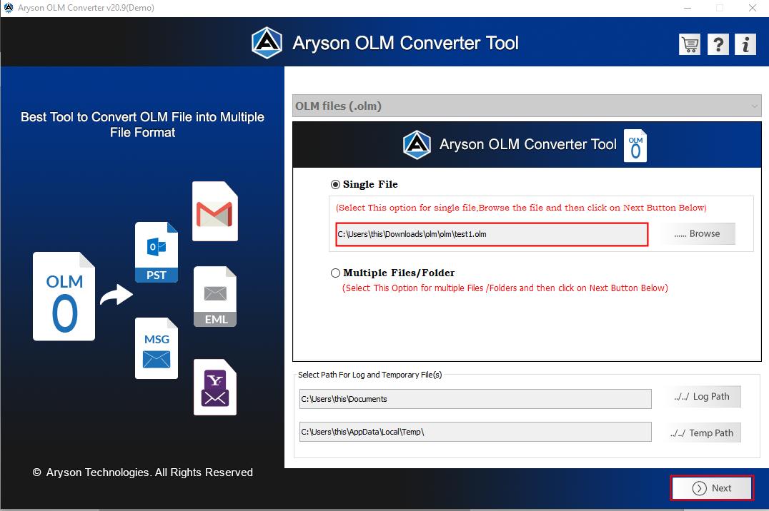 OLM converter step3