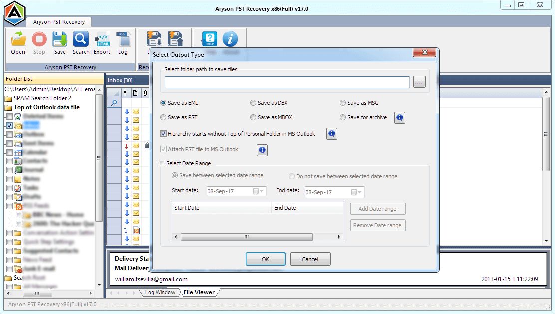 pst data recovery step-4