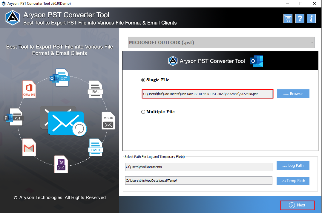 PST to EML Converter Tool to Import PST File into Windows