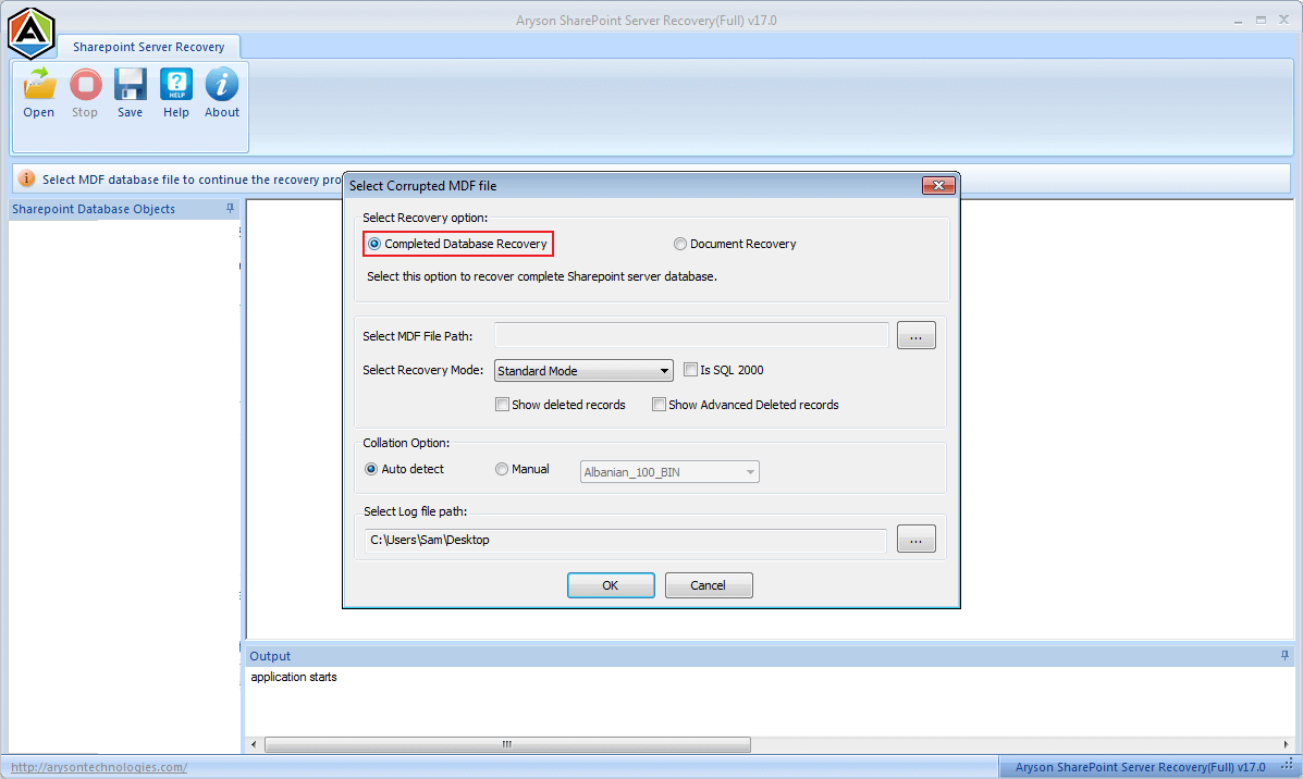 SharePoint Database Recovery