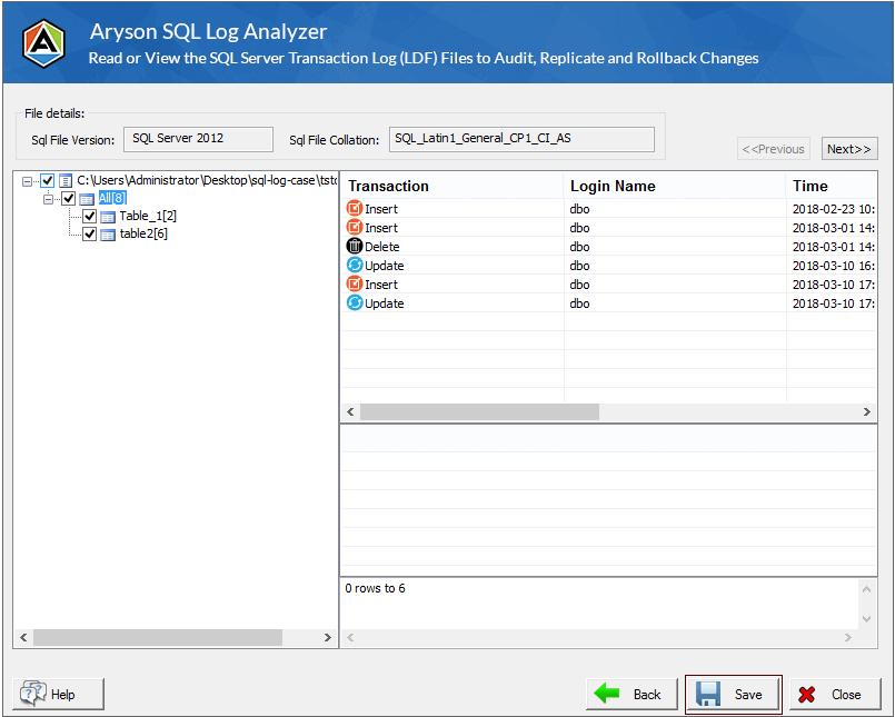 SQL Log Analyzer step-2