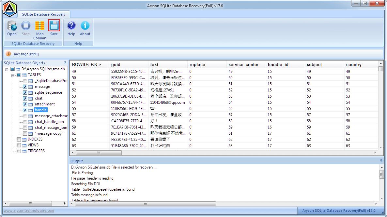 SQLite Database Repair Tool to repair corrupt and damaged